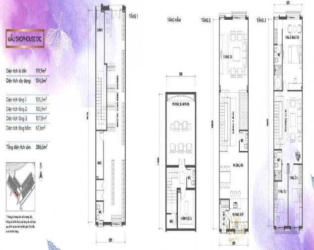 Cần bán Nhà phố Vinhomes Green Bay, cao 03 tầng 2